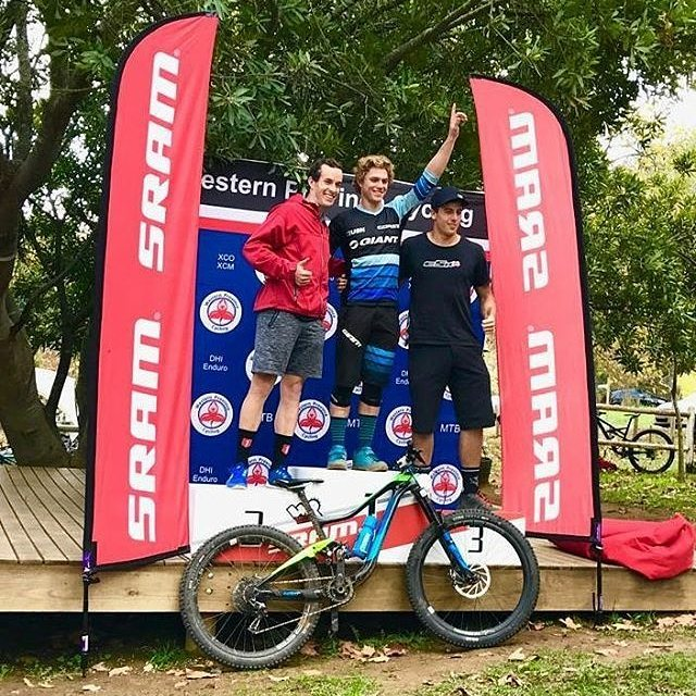 James ends up on the Podium after riding the Zerode Taniwha during Jonkershoek enduro.